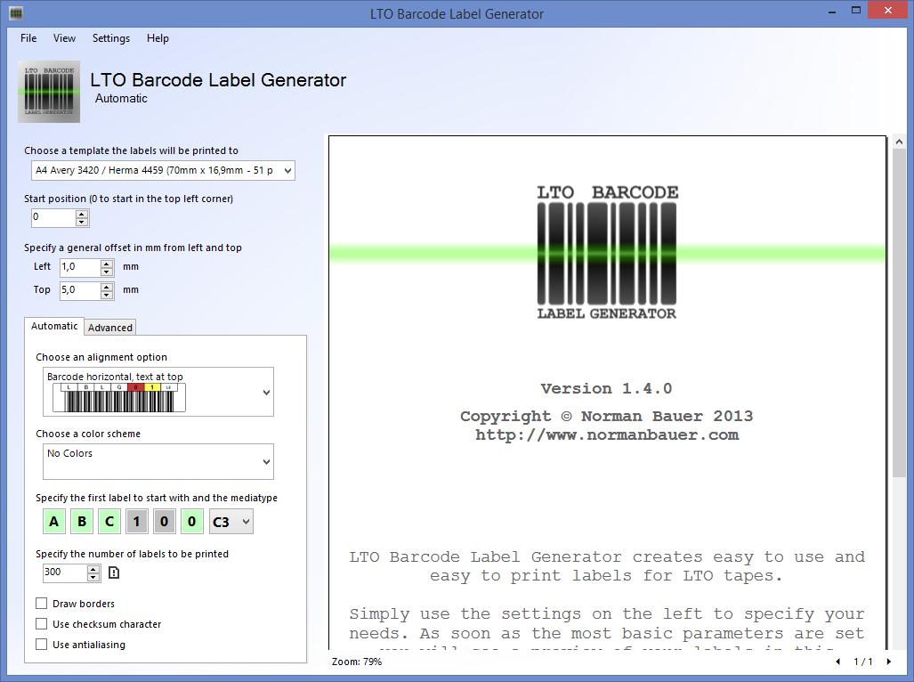 download lto barcode label generator free massbackup. Black Bedroom Furniture Sets. Home Design Ideas