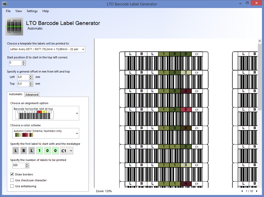 LTO Barcode Label Generator 1.2.0 released | Norman Bauer