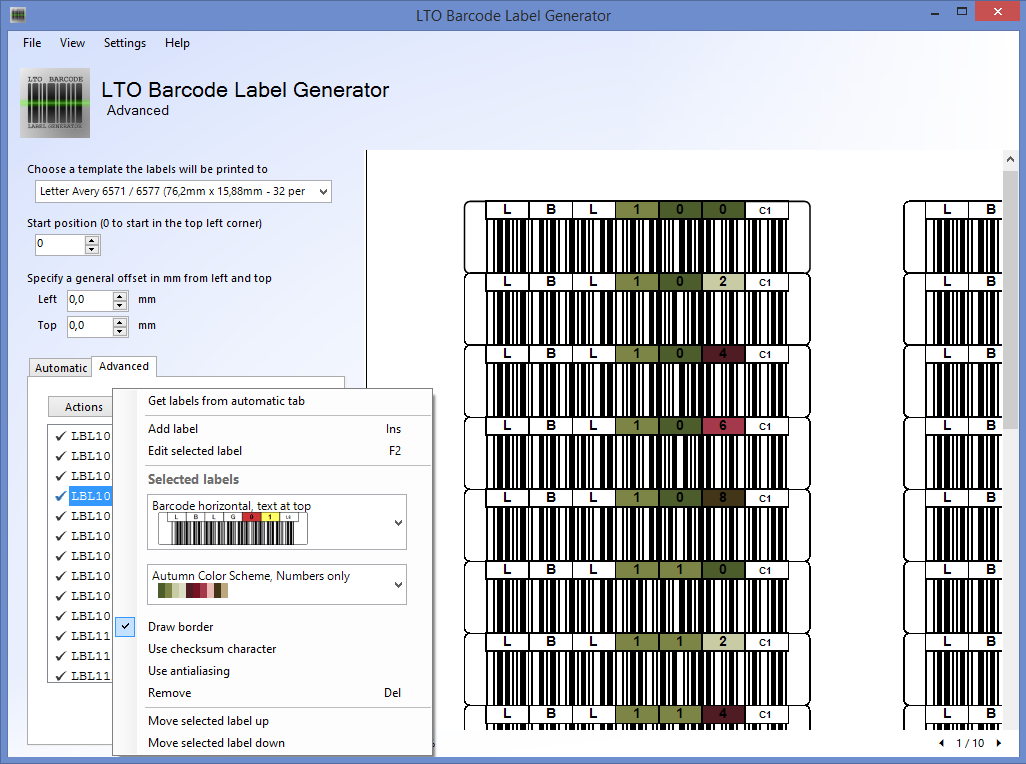 Lto Barcode Label Generator 120 Released Norman Bauer