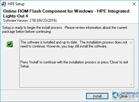 Online ROM Flash Component for Windows - HPE Integrated Lights-Out 4 Installation Ready