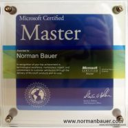 Norman Bauer – now a Microsoft Certified Master