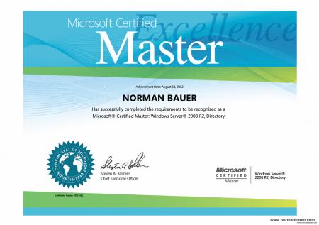 Got my MCM certificate   NORMAN BAUER