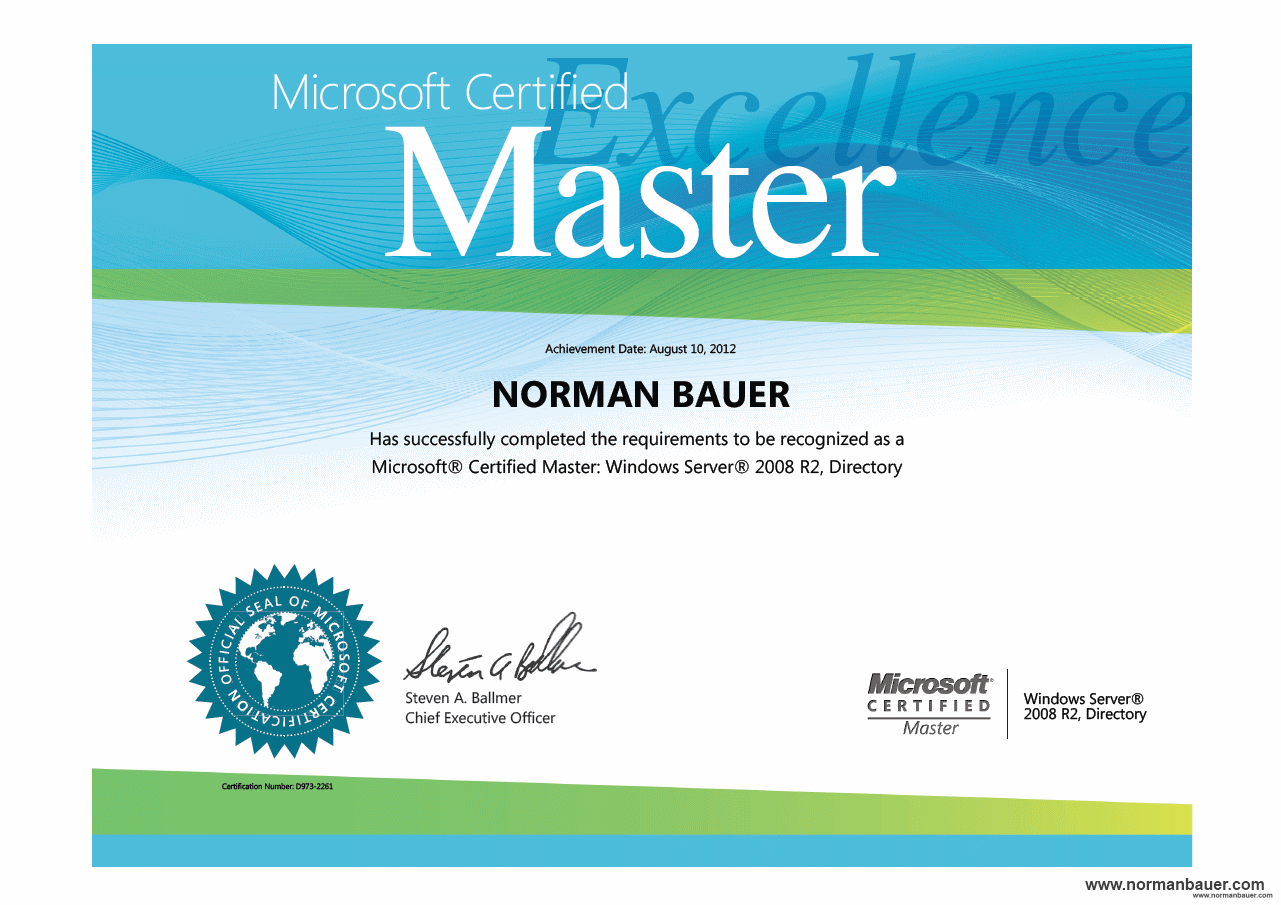 Posts Tagged As Microsoft Certified Master Norman Bauer