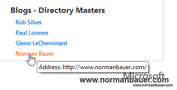 normanbauer.com: Now promoted on The Master Blog