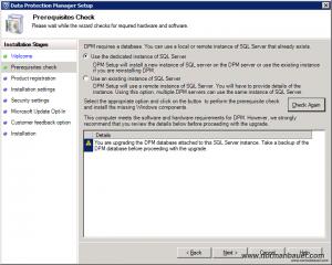 DPM2012SP1 Select SQL Server