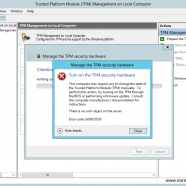 """No such object"" when configuring TPM on Windows Server 2012 or Windows 8"