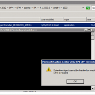 DPM 2012 SP1: Protection Agent cannot be installed