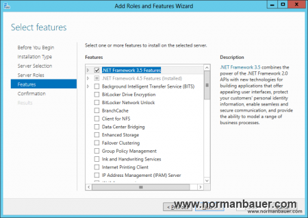 SharePoint 2013 Preparation Install .NET Framework 3.5 Features