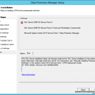 Data Protection Manager 2012 Setup: Error 4309 while installing SQL Server 2008 R2 SP1