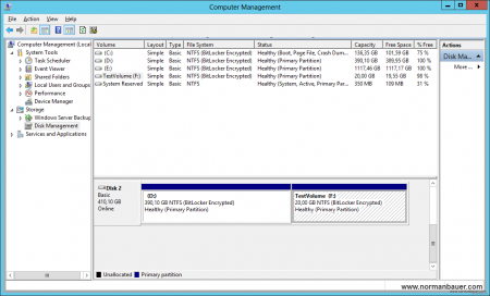 Disk Management - initial configuration