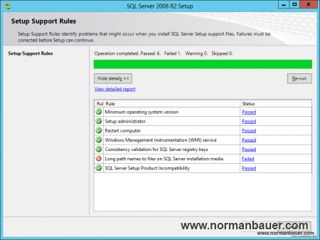 SQL Server Setup Support Rules Failed 1