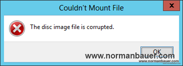 Windows Explorer - mount img file failed