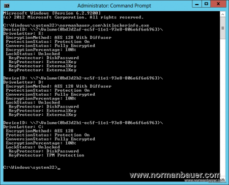 Visual Basic Bitlocker Info
