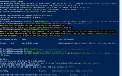 Configure SendAs Permissions on an Office365 Distribution Group using PowerShell