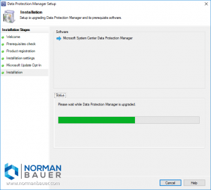 Installing Data Protection Manager 1801
