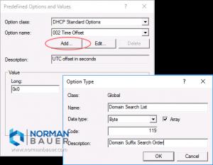 Windows Dhcp Server Add Predefined Option