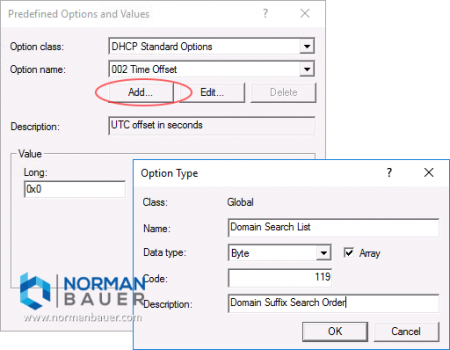 Windows Dhcp Server Add Predefined Option