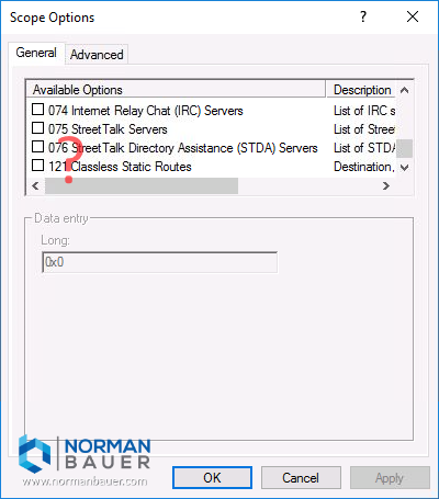 Windows Dhcp Server No Dhcp Option 119 Available
