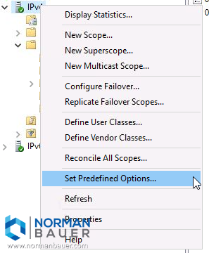 Windows Dhcp Server Set Predefined Options